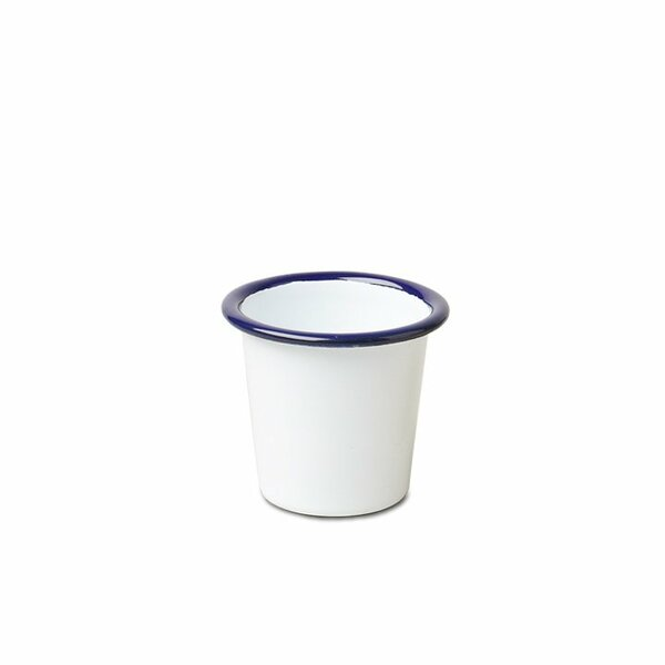 Falcon Emaille Mini Becher Tumbler weiß