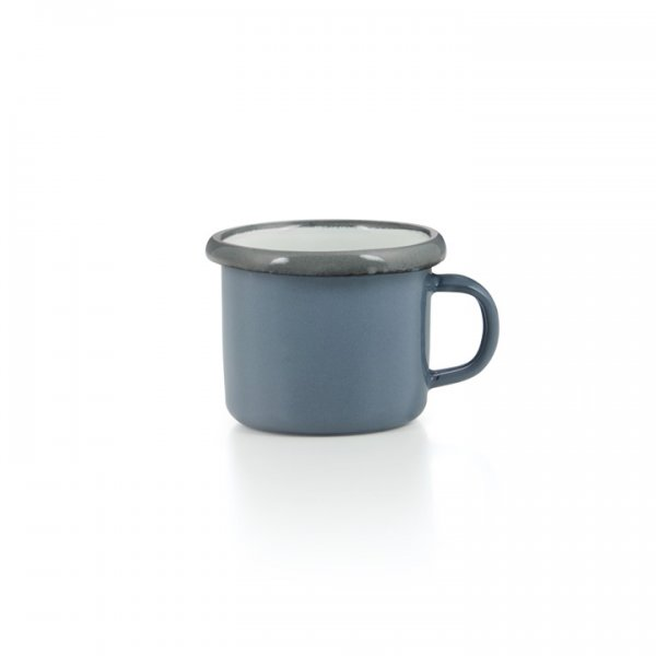 Emaille Espressotasse grau