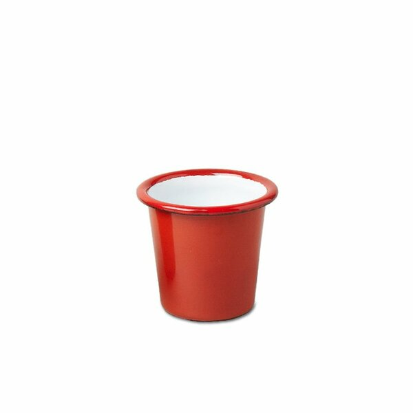 Falcon Emaille Mini Becher Tumbler rot