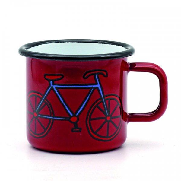 Emaille Tasse Fahrrad rot