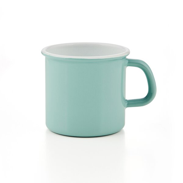 Riess Emaille Topf mit Bördel Nature Green Light Tasse Becher