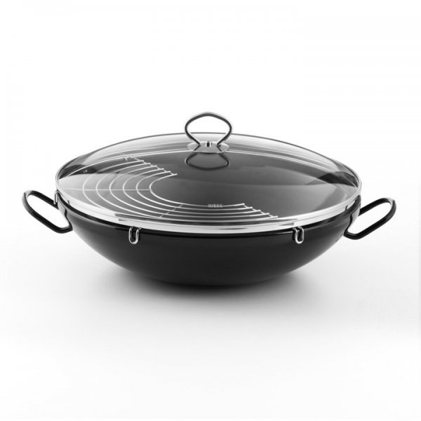 Emaille Riess Wok mit Grillrost