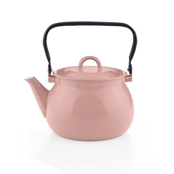 Emaille Wasserkessel rosa Teekessel