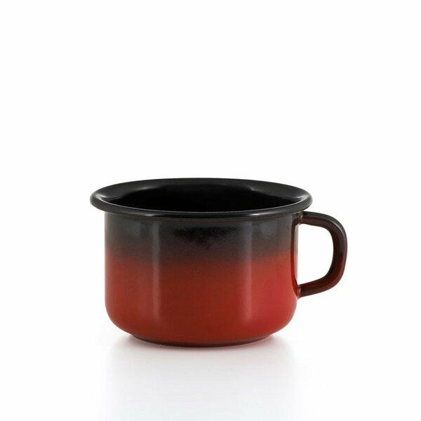 Riess emaille kaffeeschale schwarz rot spezialartikel
