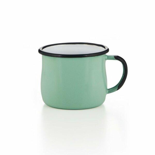 Emaille Tasse Becher hellgrün