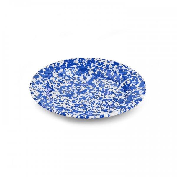 Crow Canyon Emaille Teller 26cm Marmor blau/weiß dinner plate