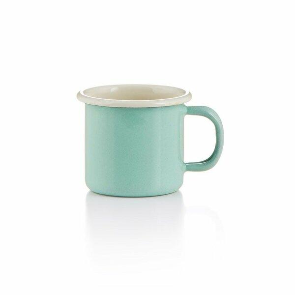 Emaille becher tasse 6cm mintgrün