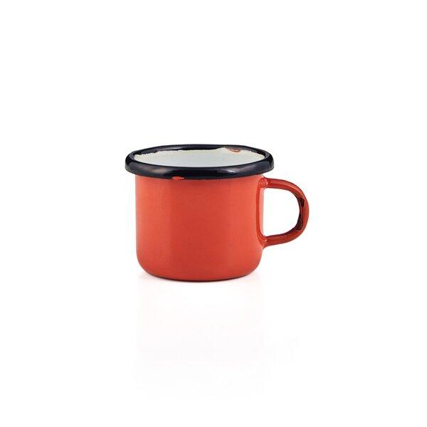 Emaille Espressotasse orange
