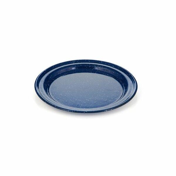 GSI Emaille Teller flach blau