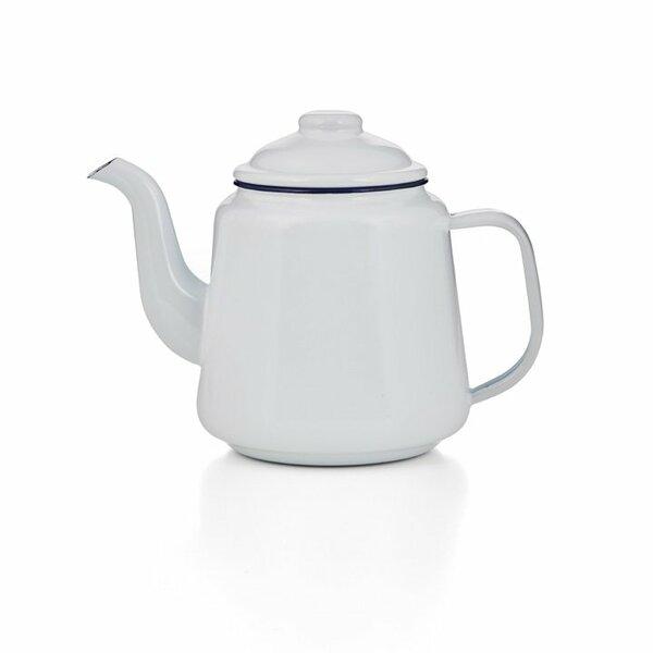 Emaille Teekanne weiß 1,5 Liter