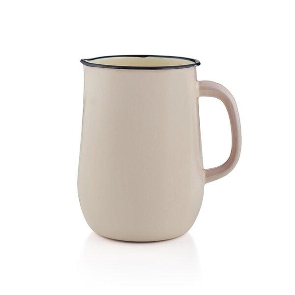 Emaille Wasserkanne, Wasserkrug, Krug, Vase creme