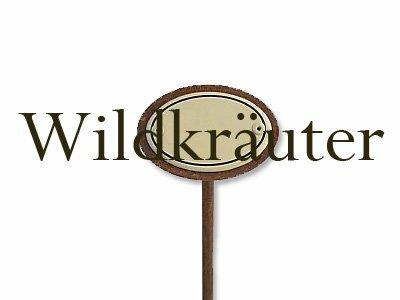 Emaille Kräuterstecker Kräuterschild Wildkräuter