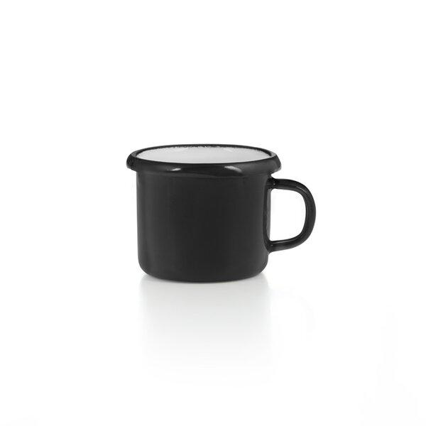 Emaille Espressotasse schwarz