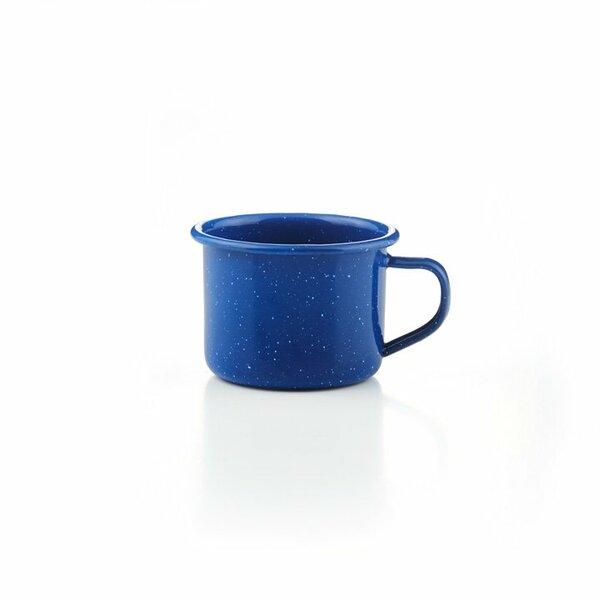 GSI Emaille Espressotasse blau