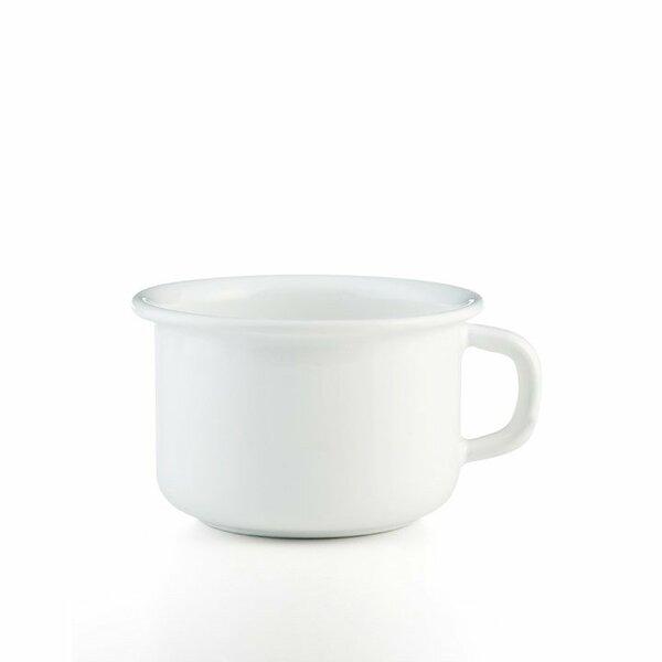 Riess emaille kaffeeschale weiß 0,4 Liter