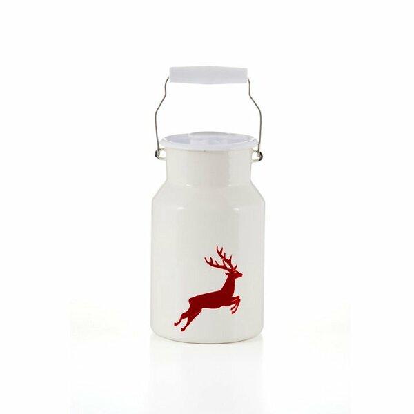 Emaille riess Milchkanne Hirsch rot 1,5 Liter