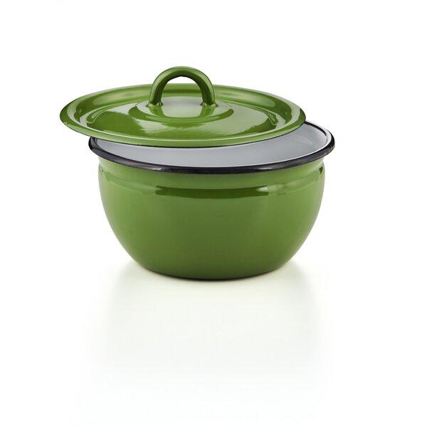 Emaille Schüssel mit Deckel Vorratsbehälter Salatschüssel Schale