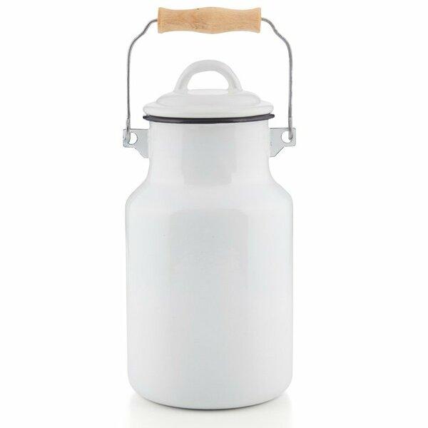 Emaille Milchkanne 4 Liter