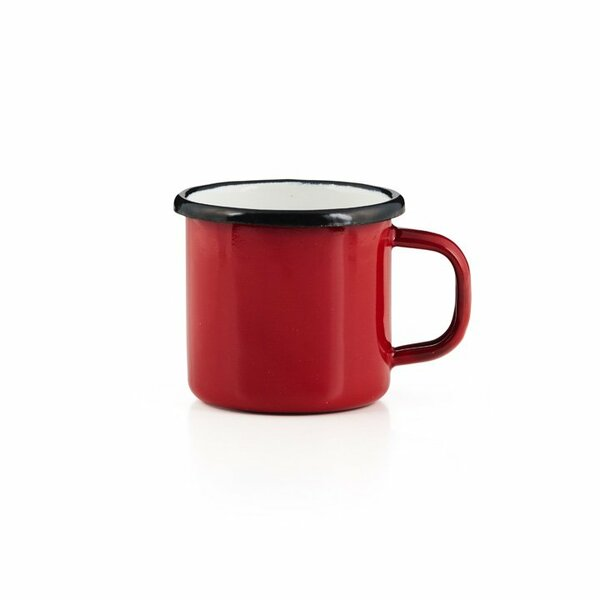 Emaille Tasse rot  Becher