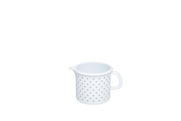 Riess Schnabeltopf Pünktchen Grau Emaille 0,5 Liter