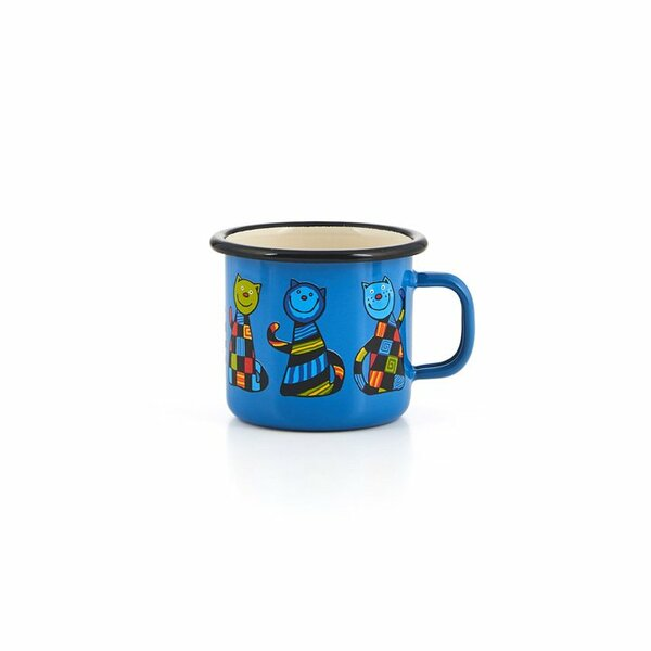Emaille Kindertasse blau 350ml