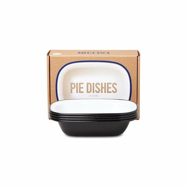 Falcon Emaille Pie Dish Ofenschalen Set schwarz