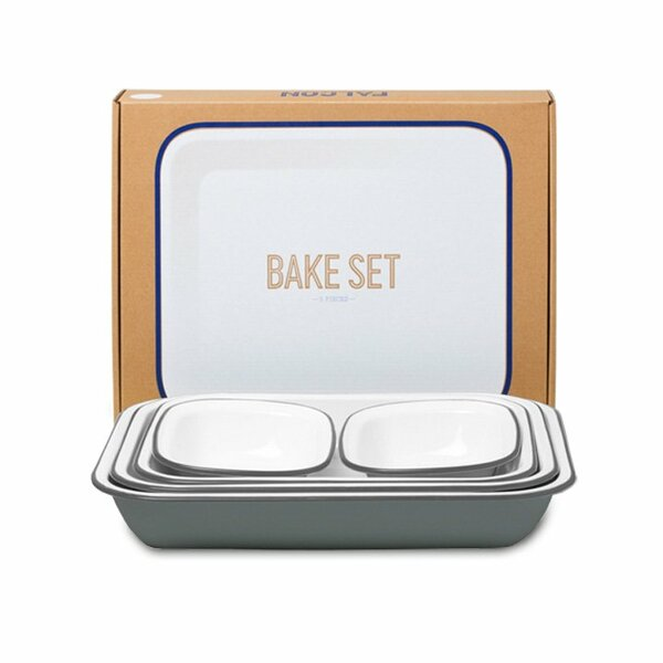 Falcon Emaille Bake Set grau