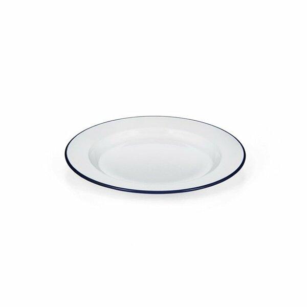 Emaille Teller flach weiß 22cm