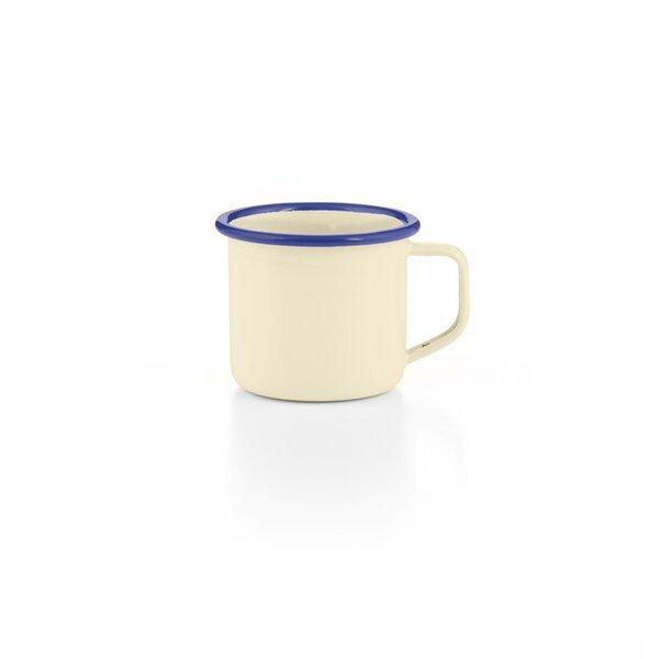 Emaille Espressotasse creme blau