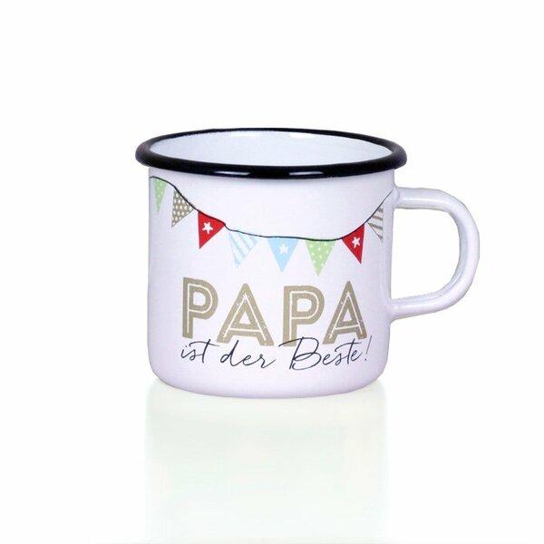 tasse papa ist der beste liv emaille online shop. Black Bedroom Furniture Sets. Home Design Ideas
