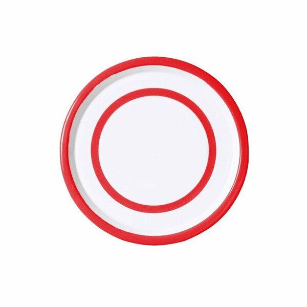 Variopinte Emaille Teller Tablett 26,5 Red cinnabar