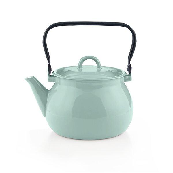Emaille Wasserkessel türkis Teekessel