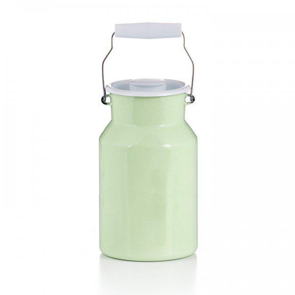 Emaille Milchkannen und Vorratsdosen