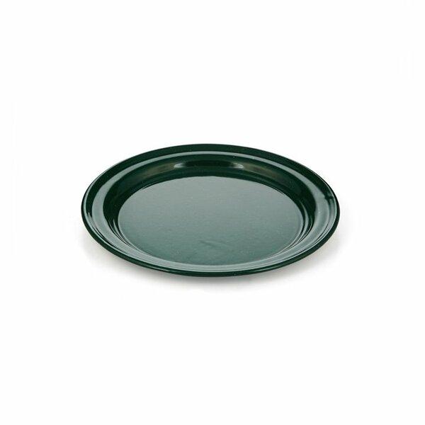 GSI Emaille Teller flach grün