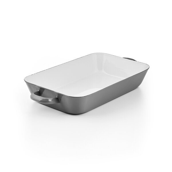 Riess Emaille Auflaufform grau 33/20cm Pure Grey