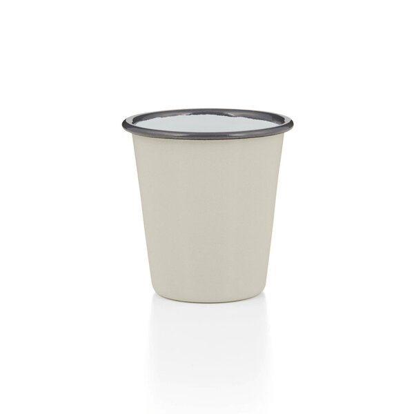 Falcon Emaille Becher Tumbler Oyster Grey