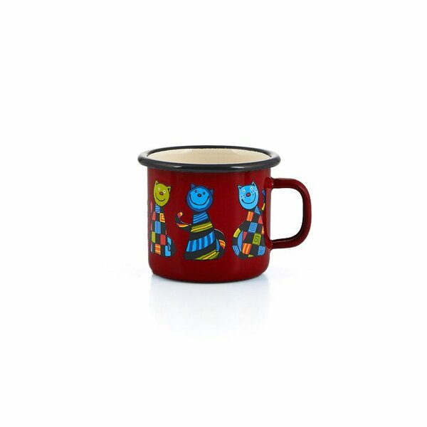 Emaille Kindertasse rot