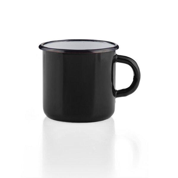 Emaille Tasse Becher schwarz Emaiilebecher