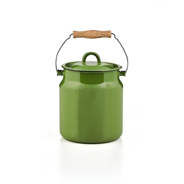Komposteimer 3 LIter Biomülleimer, Tragekanne mit Deckel,