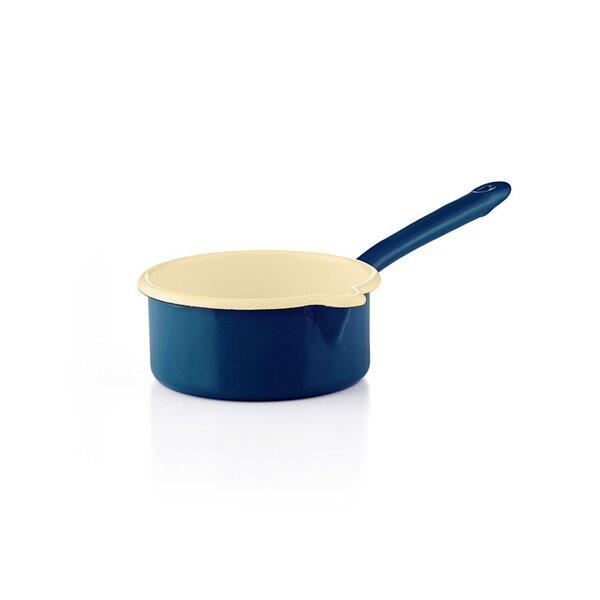 Riess Emaille Stielkasserolle Color Blau