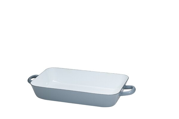 Riess Emaille Auflaufform grau 33/20cm Pure Grey