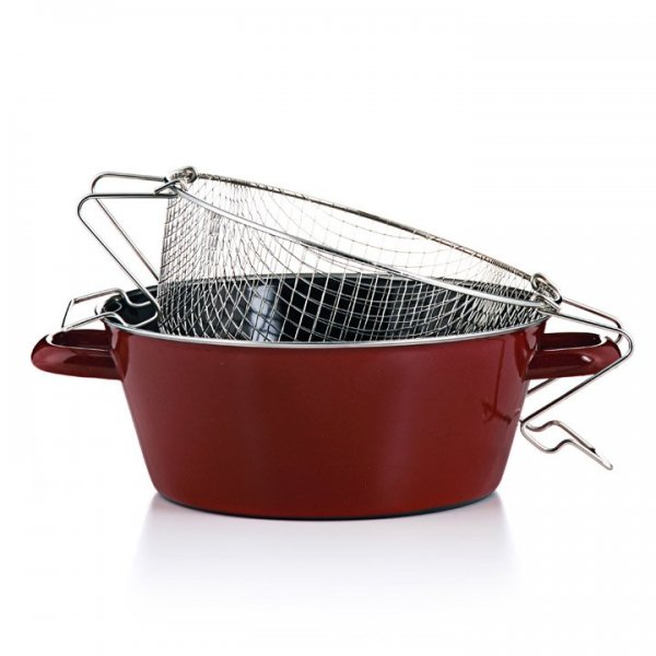 Pommes-frites Pfanne rot 24cm Emaille
