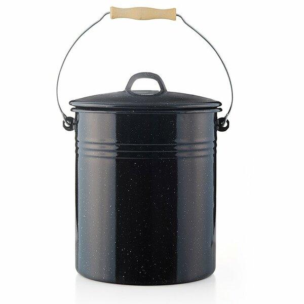 Emaille Eimer schwarz weiß gesprenkelt 10 Liter Krüger