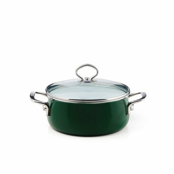 Riess Emaille Verde Kasserolle 1 Liter top 3000