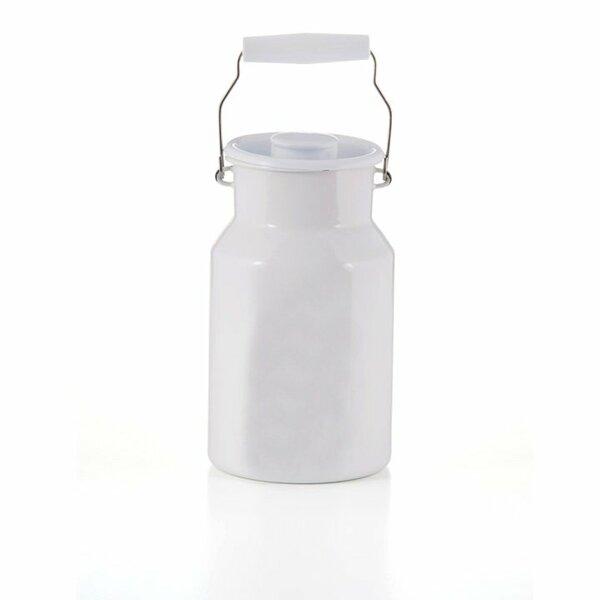 Emaille riess Milchkanne weiß 2 Liter