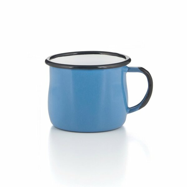 Emaille Tasse Becher blau