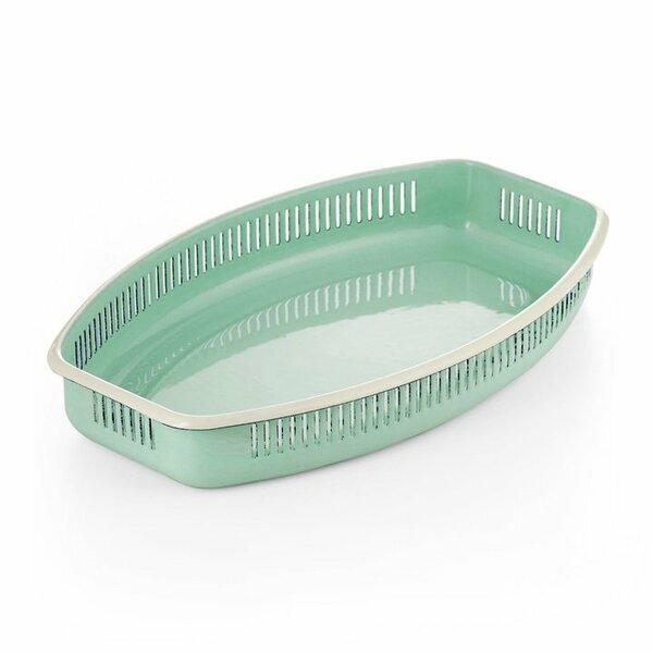 Emaille Brotkörbchen m. Seitenschlitzen mintgrün