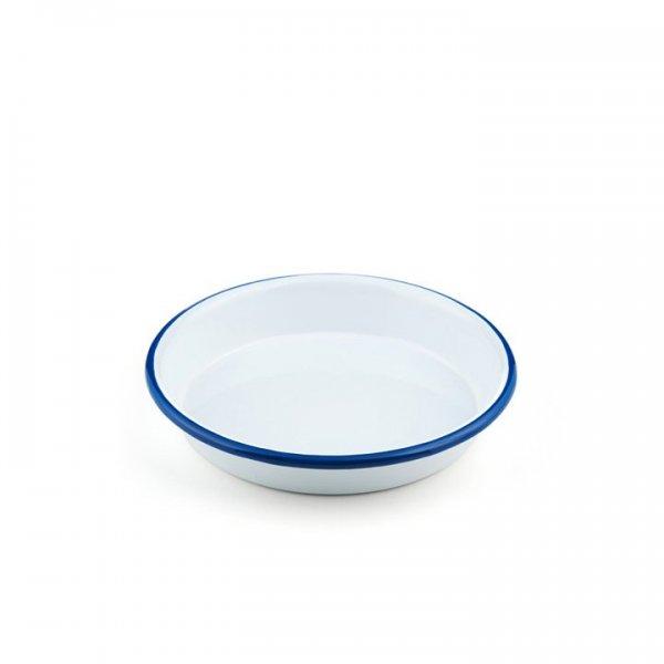 Emaille Platte 18cm weiß Gastro Line
