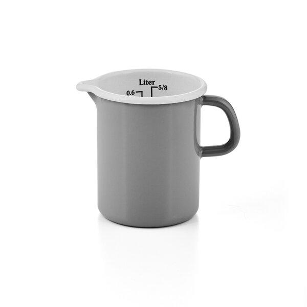 Riess Emaille Küchenmaß Litermaß Meßbecher 0,5 Liter Pure Grey