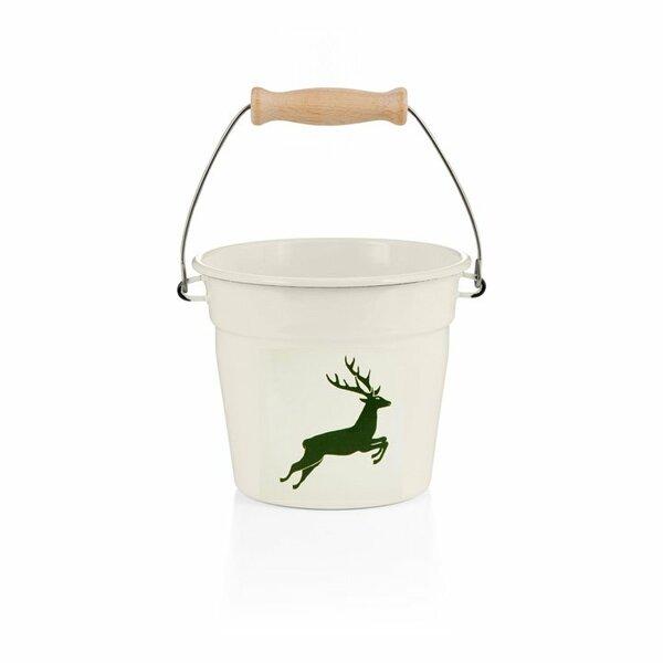 Riess Emaille Minieimer Hirsch grün 1,75 liter